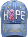 LD-155 Hope Pink Ribbon Rhinestone