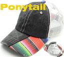 MS-158 Ponytail Pigment Serape Trucker