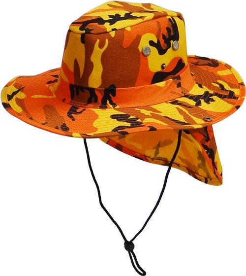 Item No  CP-061 Orange Camo Flap Boonie 6a9da87447c