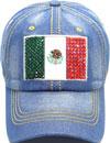 LD-163 Mexico Flag Rhinestone