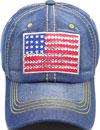 LD-166 US Flag Rhinestone