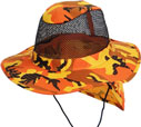 CP-041 Orange Camo Flap Mesh Boonie
