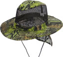 CP-043 Hunting Green Camo Flap Mesh Boonie