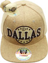 FS-605 Dallas Linen Snapback
