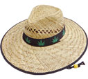 SC-447 Marijuana Straw Hat